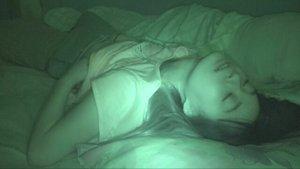 就寝前にスマホ弄りからおっぱい&おまんこ弄る妹の痴態を捉えた家庭内オナニー盗撮 ▶3:01